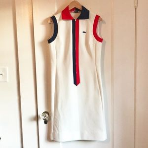 Lacoste Dresses - VINTAGE LACOSTE Half Zip Preppy Dress